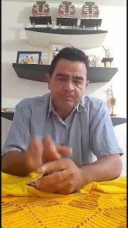 O vereador Antonio Neto em vídeo lamenta morte do ex-prefeito de Cacimba de Dentro Dr. Edmilson Gomes.