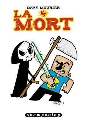 """couverture de """"Davy Mourier VS La Mort"""" de Davy Mourier chez Delcourt"""
