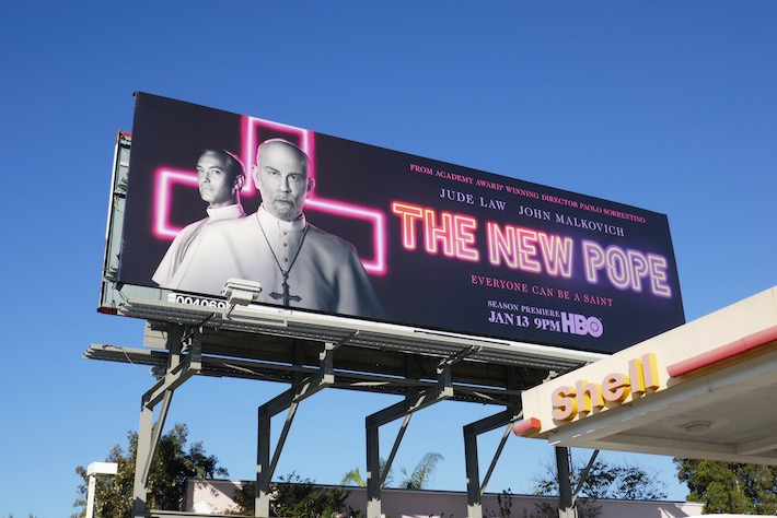 New Pope HBO series billboard