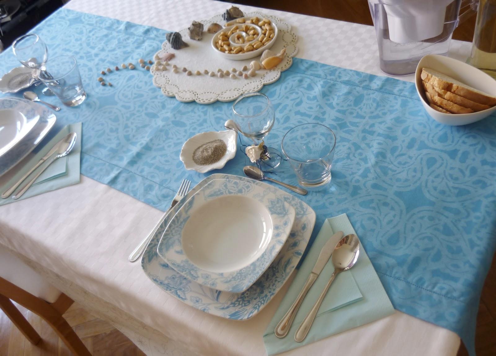 La chef a mesa azul conchas y arena - Zara home huelva ...