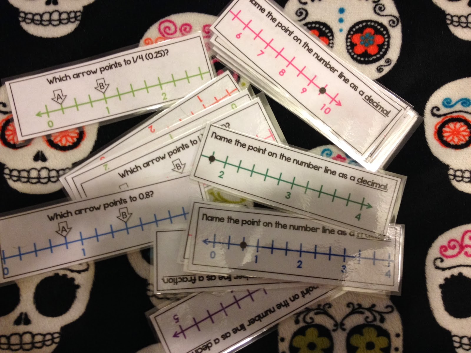 Rock And Teach Fractions Decimals Number Lines