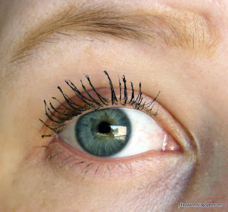 Two coats of Rimmel Scandaleyes Rockin' Curves Mascara