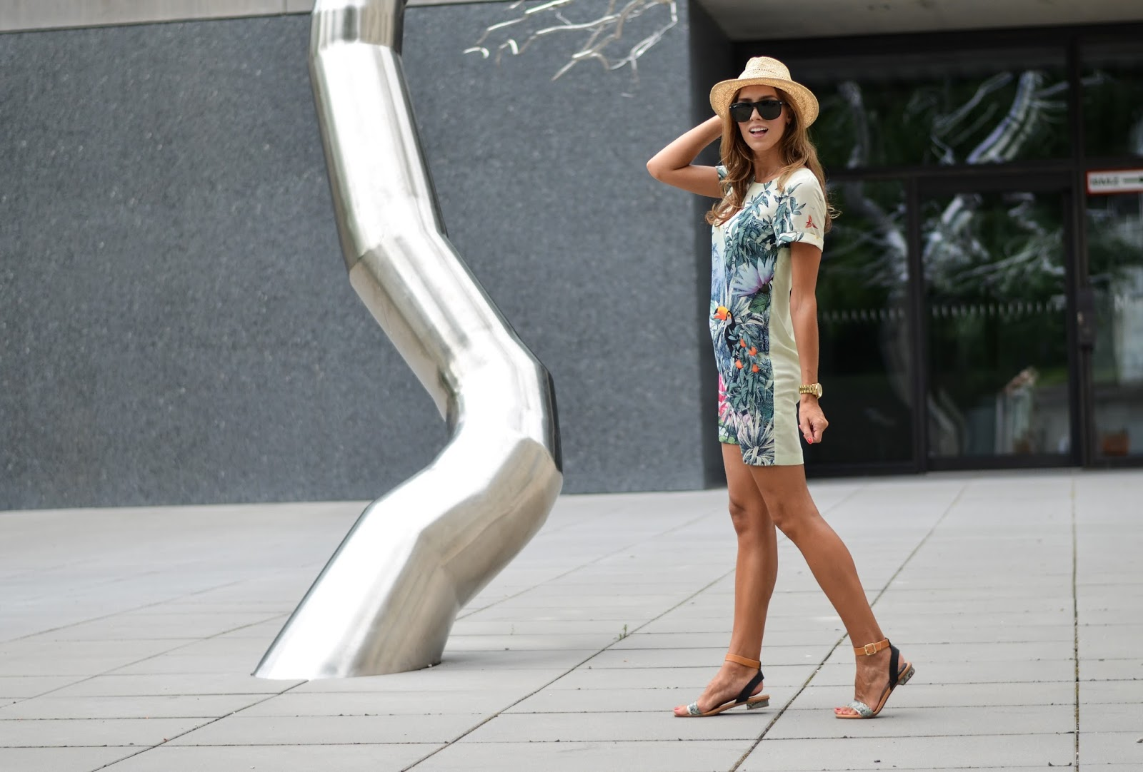 kristjaana mere printed shirt dress summer outfit munich