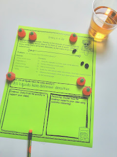 Students will follow NGSS 3-5 ETS 1-3 using this fun Halloween experiment