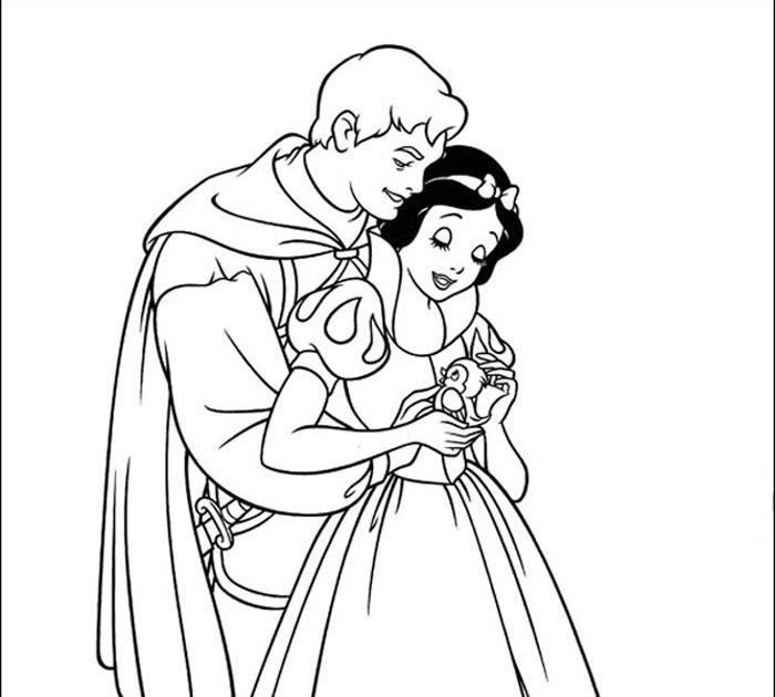 """Princesas Disney: Más Dibujos Para Colorear De """"Blancanieves"""""""