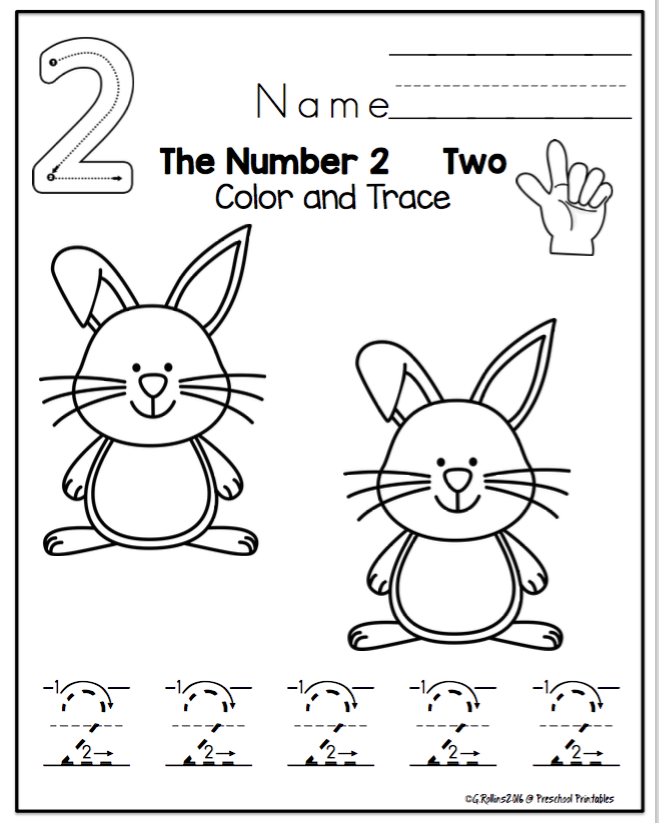 Easter Tracing Numbers 1-10 \
