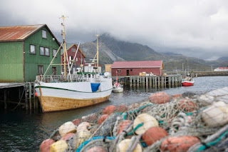 Fishing boat, the Lofoten Islands, Norway
