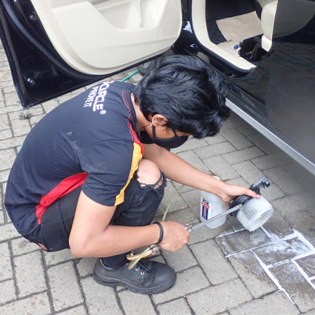 cuci evaporator ac di dokter mobil
