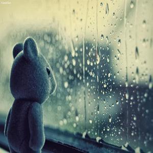 gambar dp Bbm hujan menunggu kamu