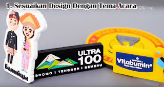 Sesuaikan Design Dengan Tema Acara merupakan tips memilih tempelan magnet kulkas untuk souvenir