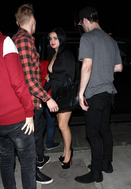 Ariel Winter in Black at Delilah in West Hollywood
