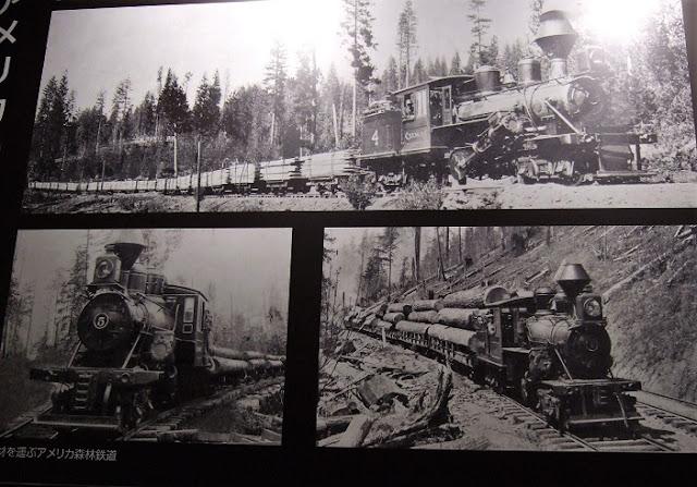 米国で木材を輸送する貨物列車