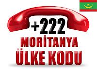 +222 Moritanya ülke telefon kodu