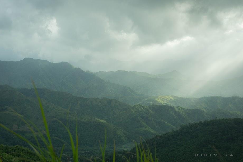 Mountain range in sight illuminated by the morning sun