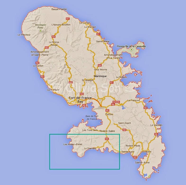 Carte Diamant - Anses d'Arlet