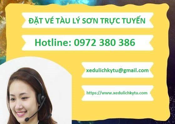 Mua vé tàu cao tốc Lý Sơn online