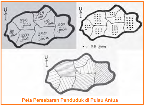 data persebaran penduduk dalam bentuk peta tematik