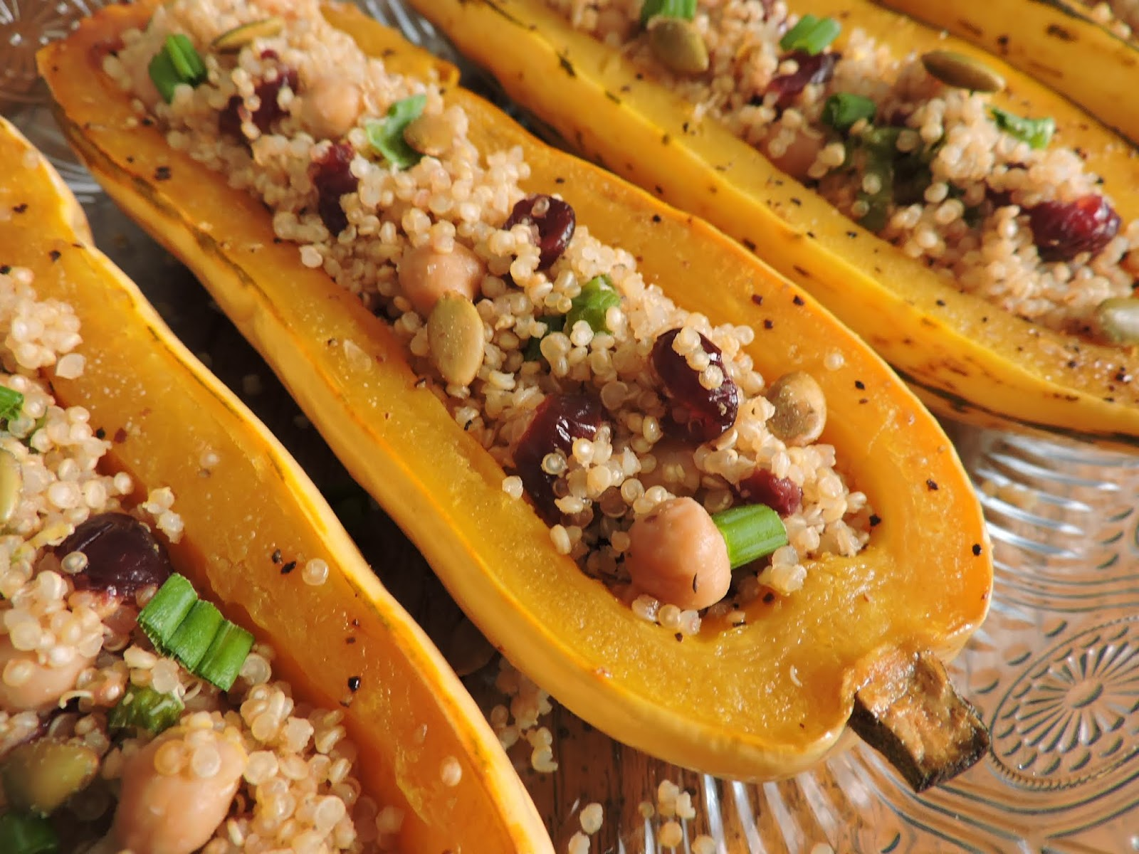 Quinoa Stuffed Squash Boats