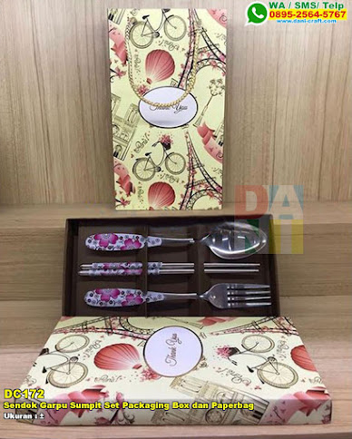 Sendok Garpu Sumpit Set Packaging Box Dan Paperbag