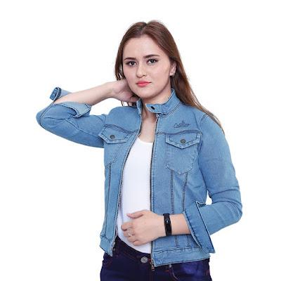 Jaket Jeans Wanita Catenzo BE 053