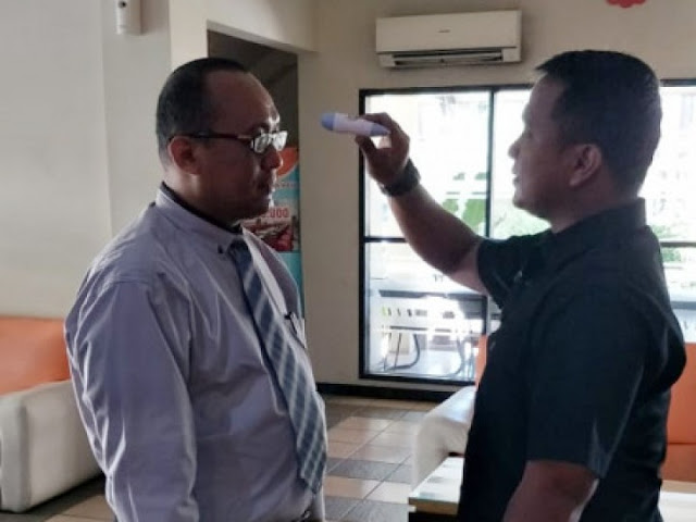 Cegah Virus Corona, Jaktour Lakukan Pemeriksaan Suhu Tubuh Bagi Karyawan dan Tamu