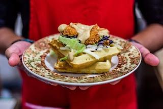 Waffle Sandwitch di Bohemian Cafe Malang