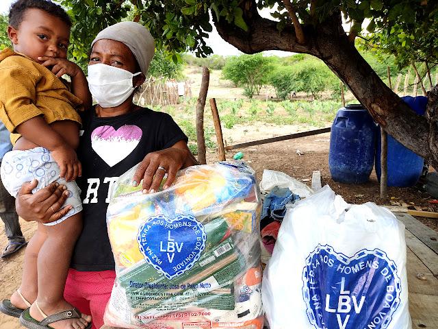 Famílias vulneráveis do Agreste Pernambucano são apoiadas pela LBV no enfrentamento à pandemia