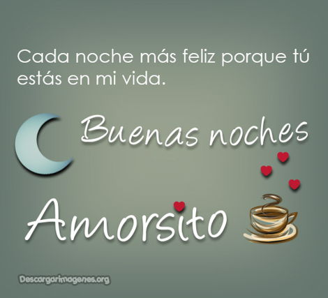 Frases buenas noches amorcito imágenes.