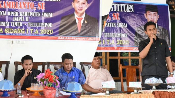 Serap Aspirasi Warga, Anggota DPRD Sinjai Dapil II Ini Reses di Tellulimpoe