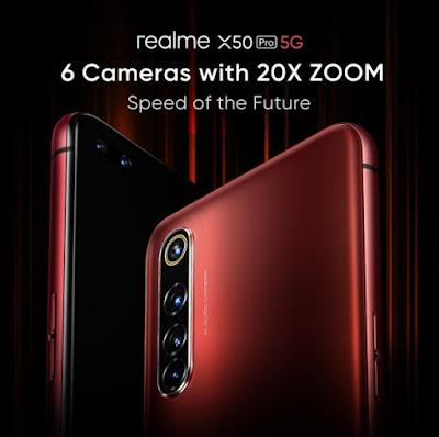 Realme menggunakan kamera quad zoom 20X di situs pratinjau X50 Pro