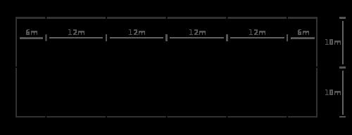 Pista de doma clásica de 20 x 60 m