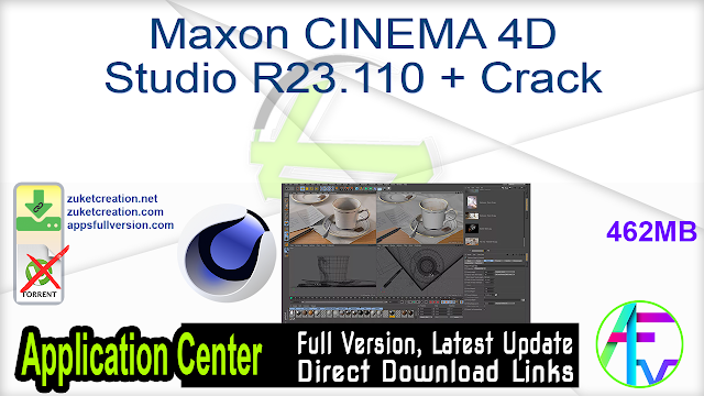 Maxon CINEMA 4D Studio R23.110 + Crack