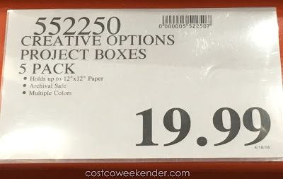 Deal for the Creative Options Project Boxes at Costco