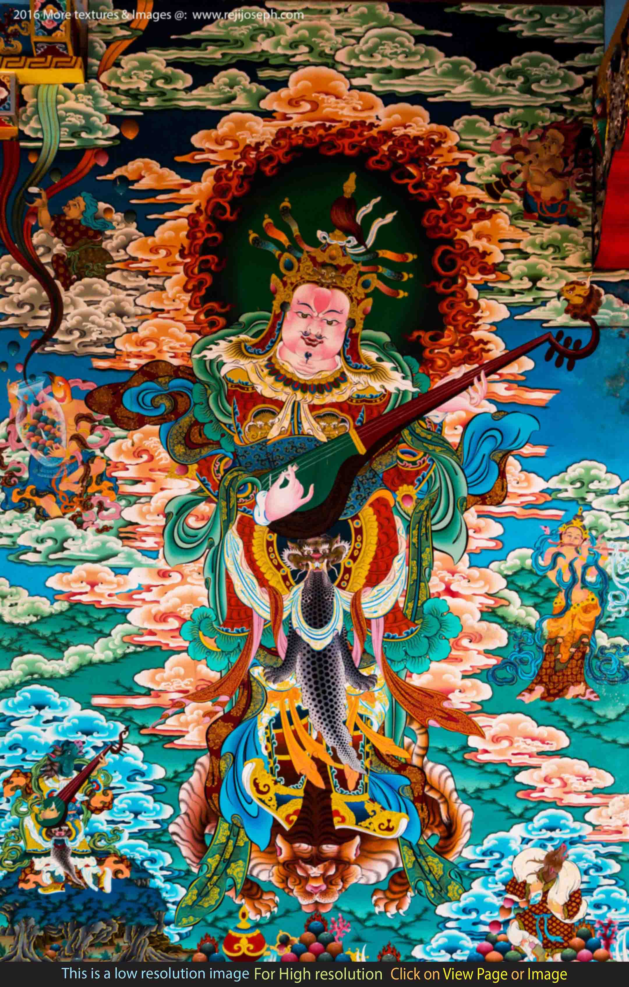 Buddhist art wall painting 003