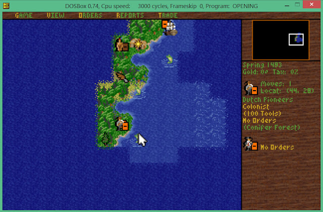 Sid Meier's Colonization Game Screenshot