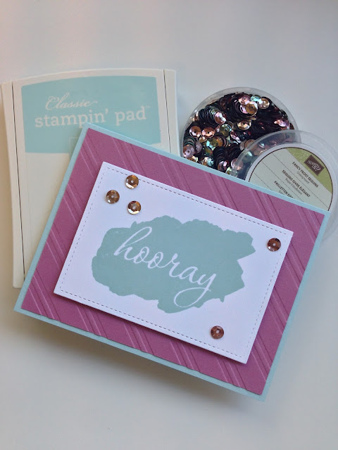 Hooray (for you) Card! | Stampin' Up & Lawn Fawn