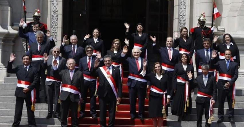 Lista de Ministros que han renunciado al Gabinete de Ántero Flores-Aráoz