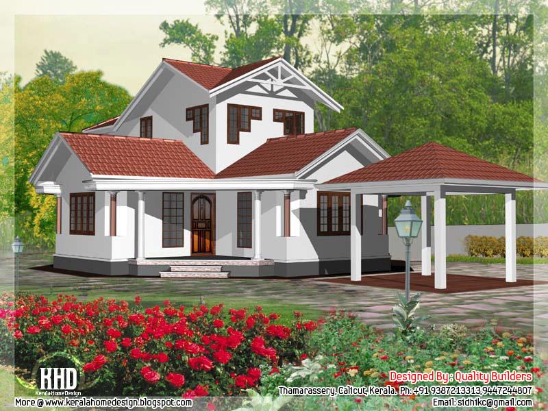 1905 kerala model house elevation kerala home for Kerala model house plans 1500 sq ft
