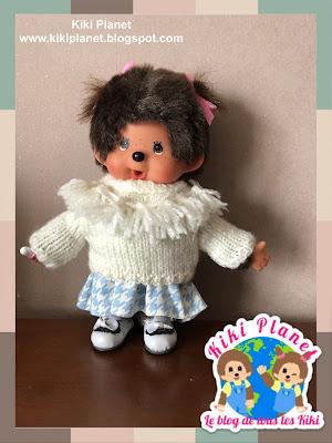 kiki monchhichi tricot knitting handmade fait main clothes vêtements doll poupée