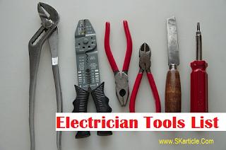 ITI Electrician Tools Name