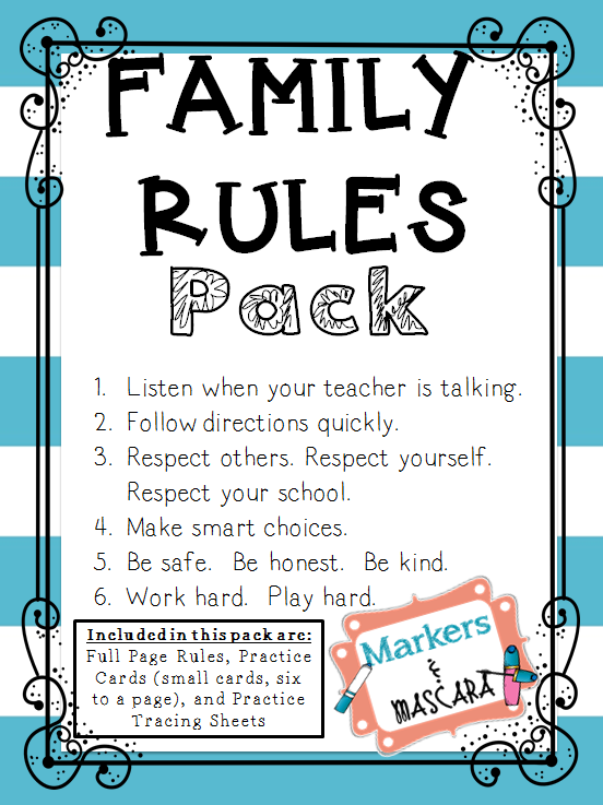 http://www.teacherspayteachers.com/Product/FREEBIE-Family-Rules-Pack-1300106