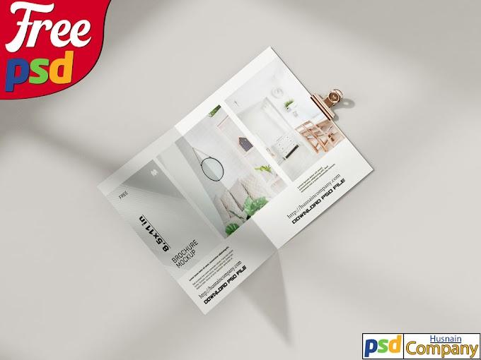Download Free Folded Brochure PSD Mockup #1