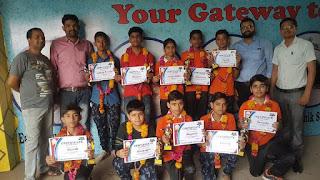 उरई: 12 बच्चों की मेहनत रंग लाई, सैनिक स्कूल में हुआ चयन