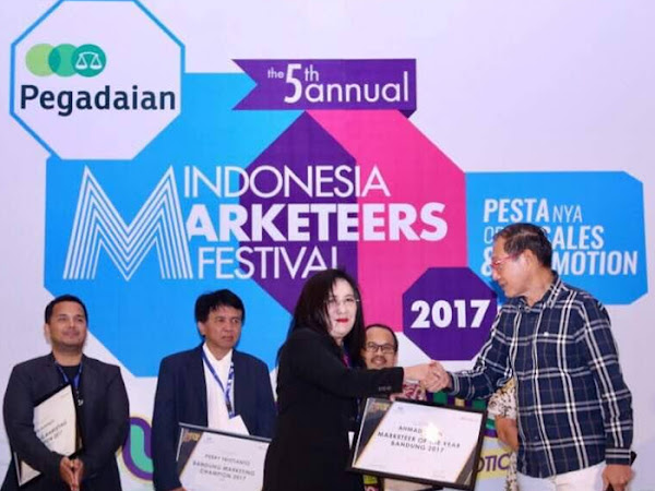 Bank BJB raih Marketeers Of The Year Bandung 2017