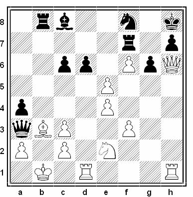Posición de la partida de ajedrez Suia - Rosenberg (Rumanía, 1962)