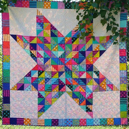 Confetti Quilt Free Pattern Designed by Stacey Day Featuring True Colors Collection by Tula Pink