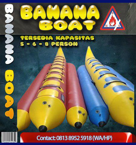 jual banana boat kapasitas 5 person