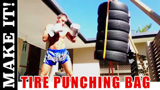 DIY Tire Punching Bag