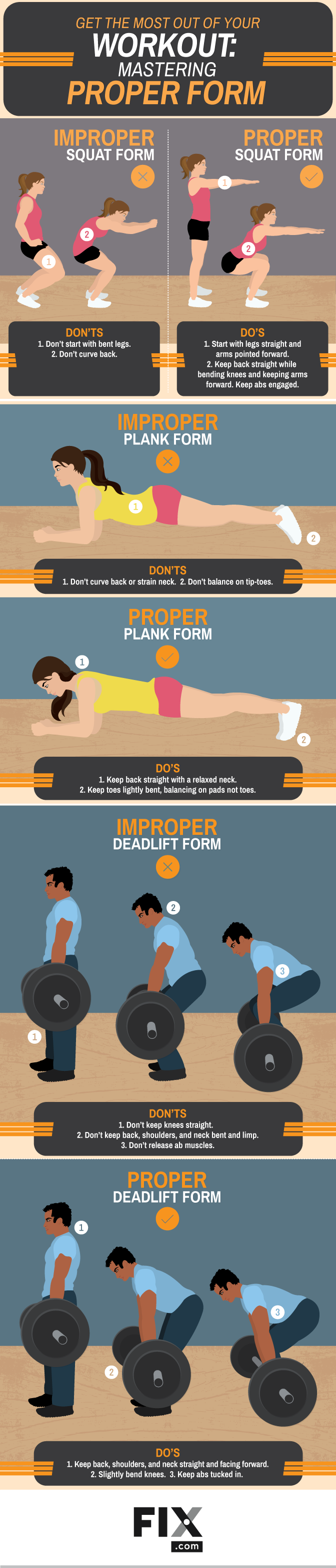GET THE MOST OUT OF YOUR MASTER PROPER WORKOUT FORM #INFOGRAPHIC