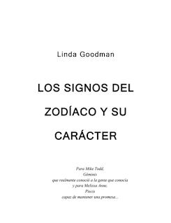 Libro pdf Los Signos del Zodiaco y su Carácter